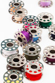Spools of a colorful thread — Stock Photo
