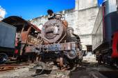 Old steam locomotives — Stock Photo