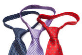 Three knotted ties — Stock Photo