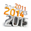 New year 2015. 3d Illustrations on a white background  — Stock Photo #56944685