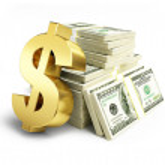 Dollar sign stacks of dollars  — Stock Photo #57793311