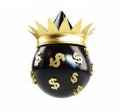 Oil drop queen money — Stock Photo