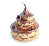 Halloween cake 3d Illustrations on a white background — Stock Photo