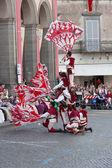 Acquapendente, ITALY - MAY 18 2014, Festa dei Pugnaloni Festival in the City Center — Foto de Stock