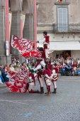 Acquapendente, ITALY - MAY 18 2014, Festa dei Pugnaloni Festival in the City Center — Stock Photo