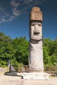 Rapa Nui-Statue in Viterbo, Italien — Stockfoto