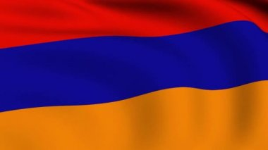 Flying Flag of Armenia LOOPED — Stock Video