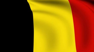 Flying Flag of Belgium  LOOPED — Stock Video