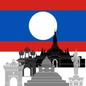 Laos — Stockvektor