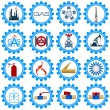 Set icons gas production industry — Stock Vector #55038131