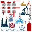 Set the gas production industry — Stock Vector #55038293