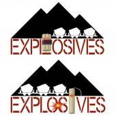 Explosivos — Vector de stock