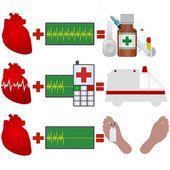 Heart disease — Stock Vector
