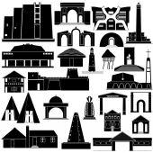 Architecture Africa-2 — Wektor stockowy