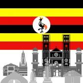 Uganda — Stock Vector