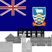 Falkland Islands — Stock Vector
