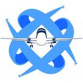 Civil aviation — Stock Vector