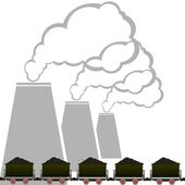 Kolen industrie-2 — Stockvector