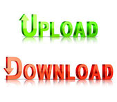 Download and upload icons. — Stock Vector