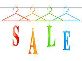 Sale hangers. — Cтоковый вектор