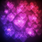 Hearts Bokeh Background — Stock Vector