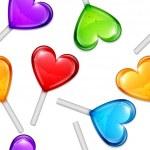 Heart Lollipops Pattern — Stock Vector #60326615