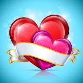 Glossy Heart Icons — Stock Vector