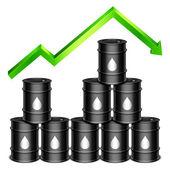 Rising Oil Price Concept — Stock Vector