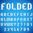 Folded Paper Font — Stock Vector #76692337