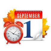 First September Calendar — Stock Vector
