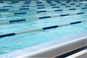 Lanes of swimming pool — Stock Photo