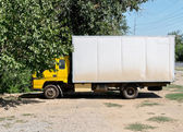 White truch parked — Stock Photo