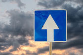 Directional road sign outdoors — Stock Photo