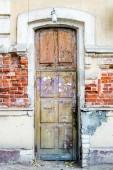 A brown wood old door — Stock Photo