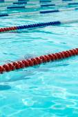 Swimming pool with empty lanes. — Stock Photo