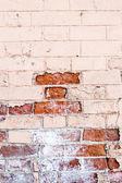 Tuğla dokusu yarısı boyalı duvar — Stok fotoğraf