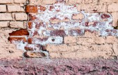Obsolete old brick wall texture — Stock Photo