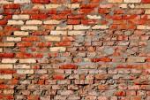 Veraltete aus rotem Backstein-Mauer-Hintergrund — Stockfoto