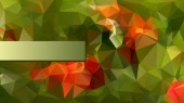Modernes Poligonal-Design in rot und grün — Stockvektor