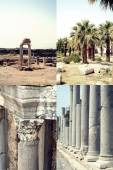 Set of images of ancient ruin in Side, Turkey — Stock Photo