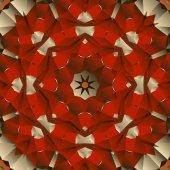Red seamless mandala vector design — Stock Vector