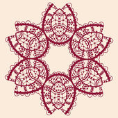 Stylized flower. Ornamental outline mandala. Vector square flyer card design. Invitation card. Vintage art. Hand drawn element. Islamic, arabic, indian, ottoman, asian motifs. Flayer liginoru — Stock Vector