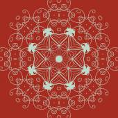 装飾的なラウンド フレーム。抽象的なベクトル花飾り。レース模様. — ストックベクタ