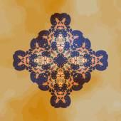 Tribal Motif design. Mandala chakra yantra karma template — Stock Vector