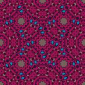 Vintage purple seamless pattern with filigree circles mandala vector. — Stock Vector