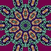 Stylized leaves mandala vector illustration tribal style. — Stock Vector