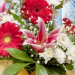 Gerbera flowers and lily — Stock Photo #67179967