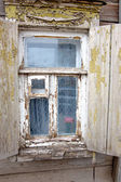 Closeup of the old window in Astrakhan, Russia — Stock Photo