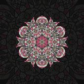 Pink arabian mandala — Stock Vector