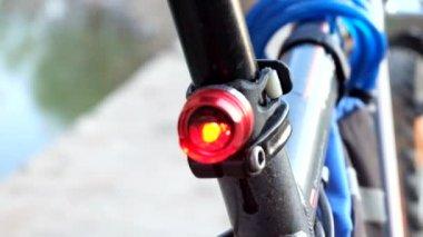 Bike  flashing light — 图库视频影像